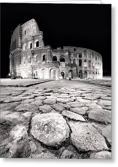 Rom Greeting Cards - Rome Colloseum Greeting Card by Nina Papiorek