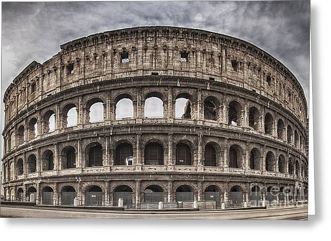 Rome Greeting Cards - Rome Colosseum 02 Greeting Card by Antony McAulay
