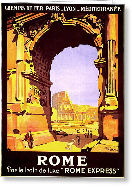 Express Greeting Cards - Rome Express Greeting Card by Nomad Art And  Design