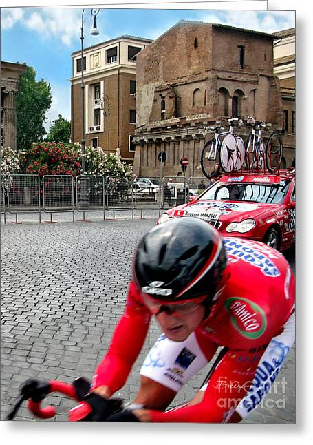 International Bicycle Races Greeting Cards - Rome   Giro d Italia Greeting Card by Jennie Breeze