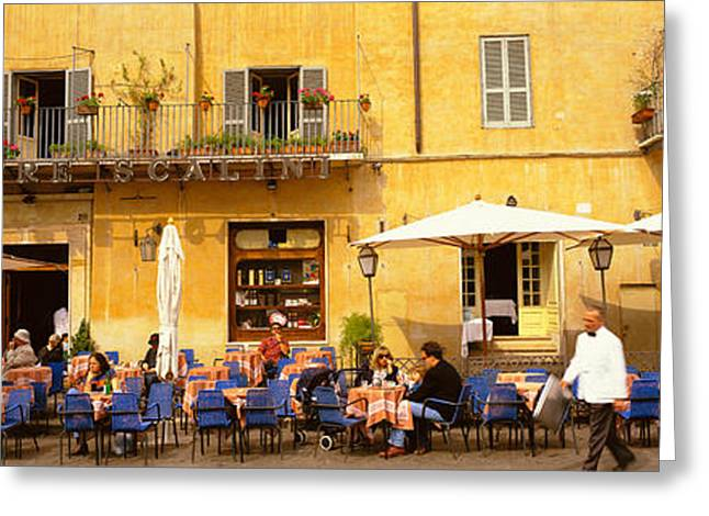 European Restaurant Greeting Cards - Rome Italy Greeting Card by Panoramic Images