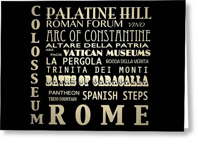 Rome Italy Famous Landmarks Greeting Card by Patricia Lintner