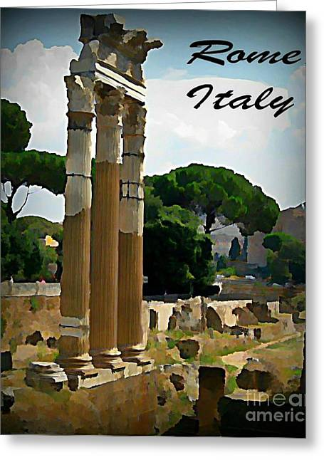Halifax Art Work Greeting Cards - Rome Italy Poster Greeting Card by John Malone