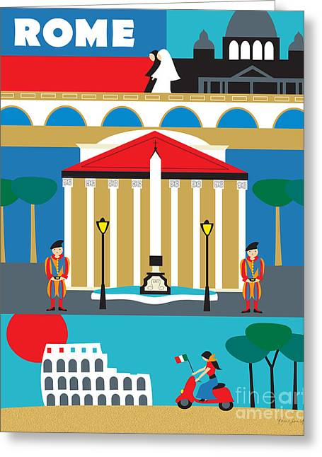 Rome Greeting Cards - Rome Greeting Card by Karen Young