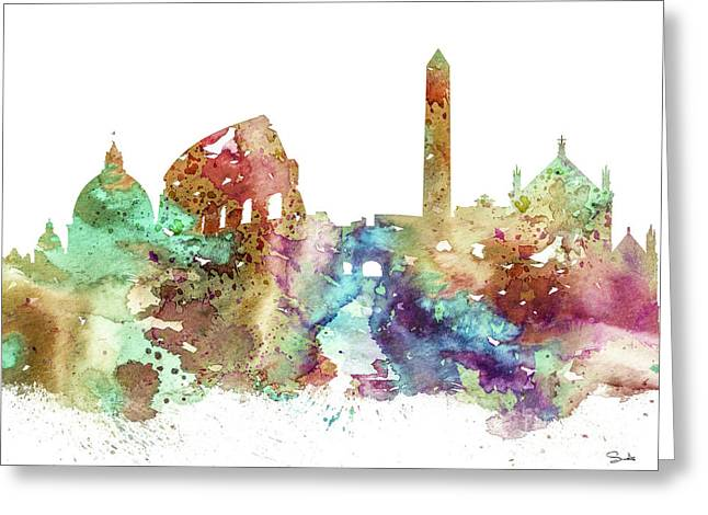 Rome Paintings Greeting Cards - Rome Greeting Card by Luke and Slavi