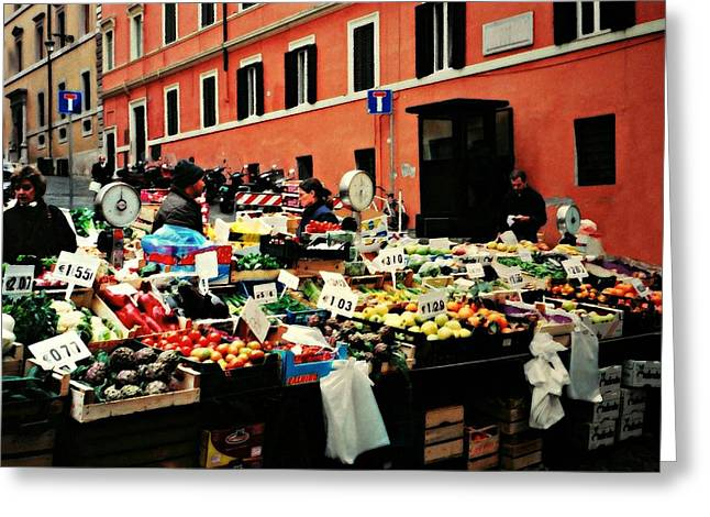 Italian Market Photographs Greeting Cards - Rome Market Greeting Card by Diana Angstadt