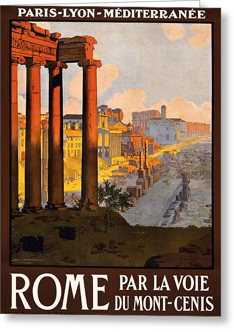 Express Digital Greeting Cards - Rome par la voie du Mont-Cenis Greeting Card by Nomad Art And  Design