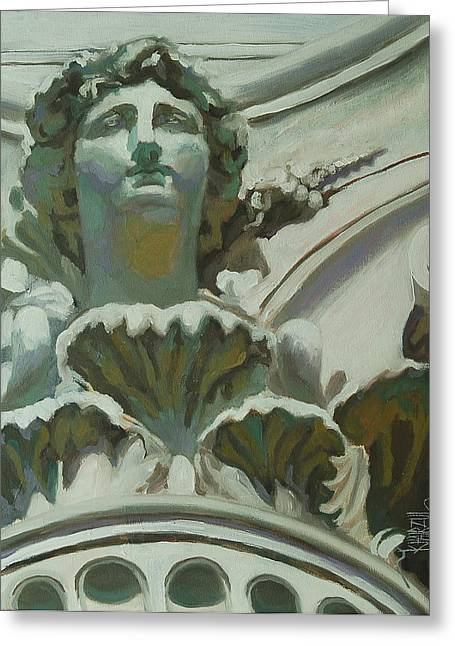 Statue Portrait Paintings Greeting Cards - Rome Statue Greeting Card by Khairzul MG