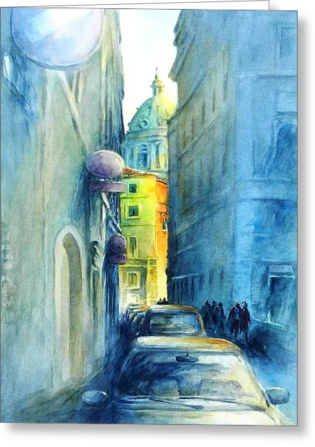 Picturesque Paintings Greeting Cards - Rome Wasnt Built In A Day Greeting Card by Virgil Carter