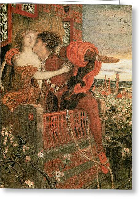 Romeo And Juliet Greeting Card by Ford Madox Brown