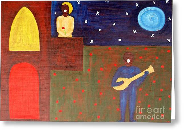 Acting Paintings Greeting Cards - Romeo And Juliet 2 Greeting Card by Patrick J Murphy