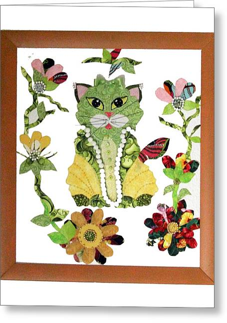 Framed Tapestries - Textiles Greeting Cards - RomKat Greeting Card by Frederic Kohli