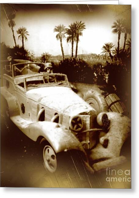 Model Kits Greeting Cards - Rommel Desert Rat Greeting Card by John Malone