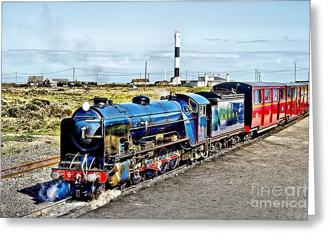 Romney Hythe And Dymchurch Railway Greeting Card by Chris Thaxter