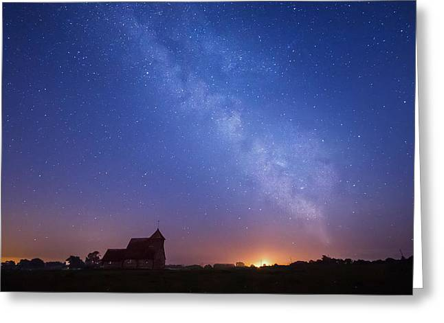 Sussex Greeting Cards - Romney Marsh at Night. Greeting Card by Ian Hufton