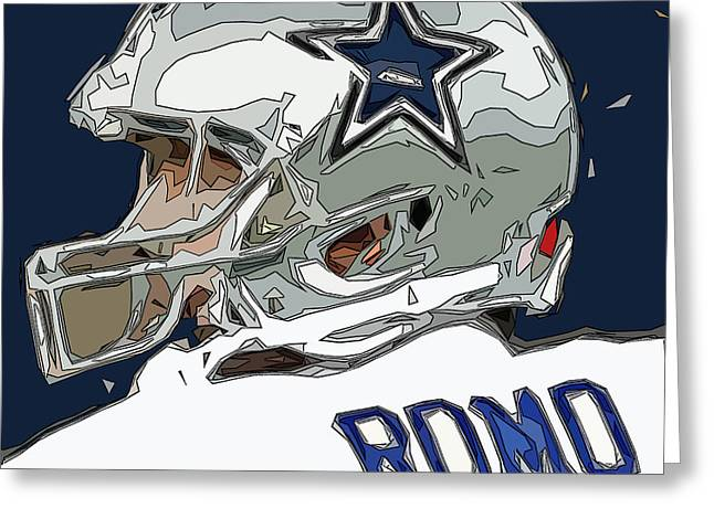 Romo Greeting Cards - Romo Comic Style Abstract Greeting Card by David G Paul