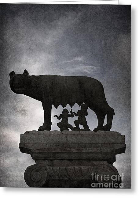 Capitol Greeting Cards - Romulus and Remus - Rome Greeting Card by Rod McLean