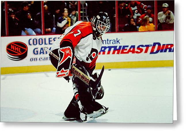 Ron Hextall Greeting Cards - Ron Hextall Greeting Card by Jerry Coli