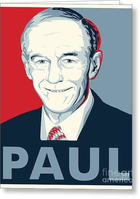 Libertarian Party Greeting Cards - Ron Paul Greeting Card by John Lehman