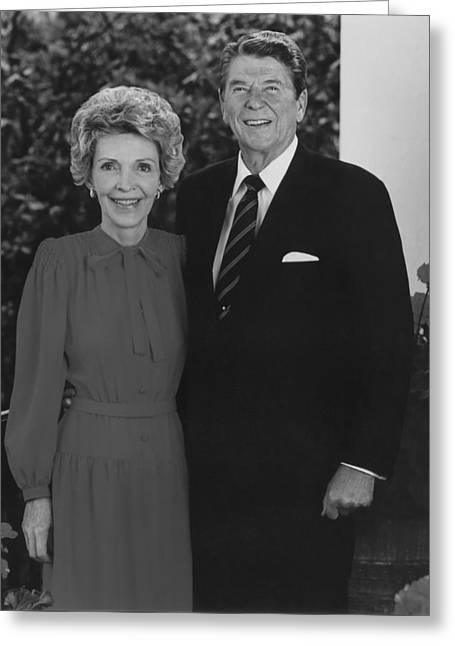 First Lady Photographs Greeting Cards - Ronald And Nancy Reagan Greeting Card by War Is Hell Store