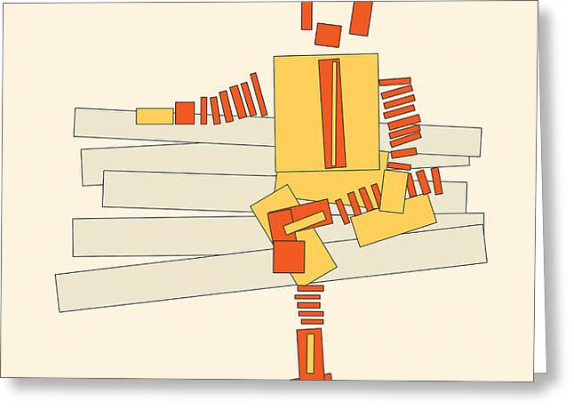 Recently Sold -  - Geometric Design Greeting Cards - Ronald Mcdonald Greeting Card by Igor Kislev