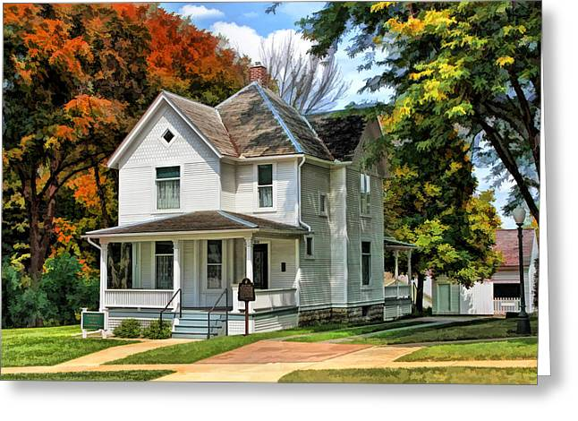 Anne Paintings Greeting Cards - Ronald Reagan Boyhood Home Greeting Card by Christopher Arndt