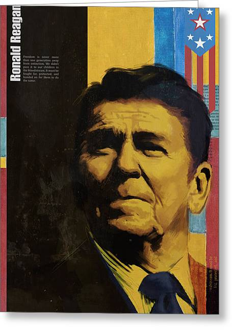 William Henry Harrison Greeting Cards - Ronald Reagan Greeting Card by Corporate Art Task Force