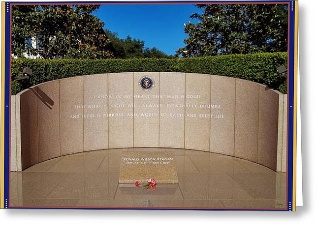 Gipper Greeting Cards - Ronald Reagan Memorial Site Greeting Card by Glenn McCarthy Art and Photography
