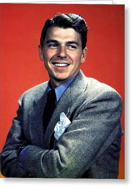 Gipper Greeting Cards - Ronald Reagan Greeting Card by Unknown