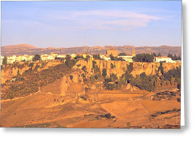 Chasms Greeting Cards - Ronda Gorge, Andalucia, Spain Greeting Card by Panoramic Images