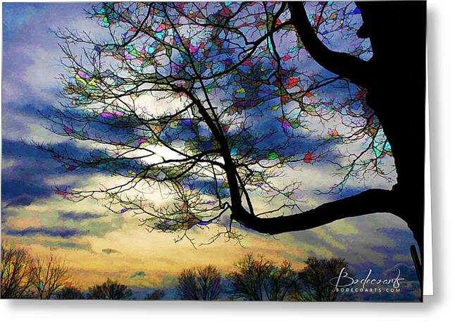 Robin Lewis Greeting Cards - Rondis Tree Greeting Card by Robin Lewis