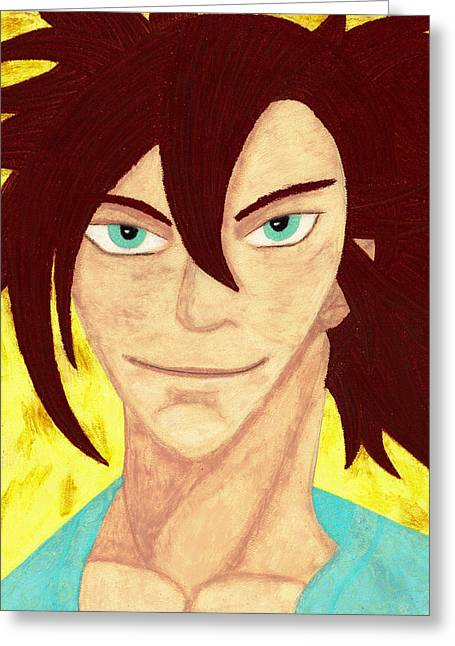Human Pastels Greeting Cards - Ronin Greeting Card by Jessica Foster