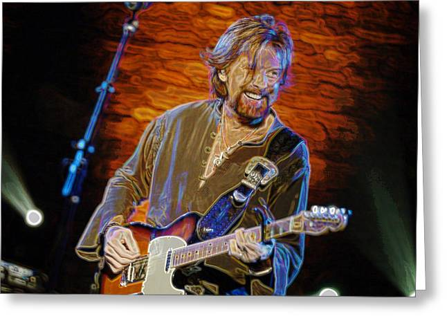 Franklin Tennessee Greeting Cards - Ronnie Dunn  BROOKS and DUNN Greeting Card by Don Olea