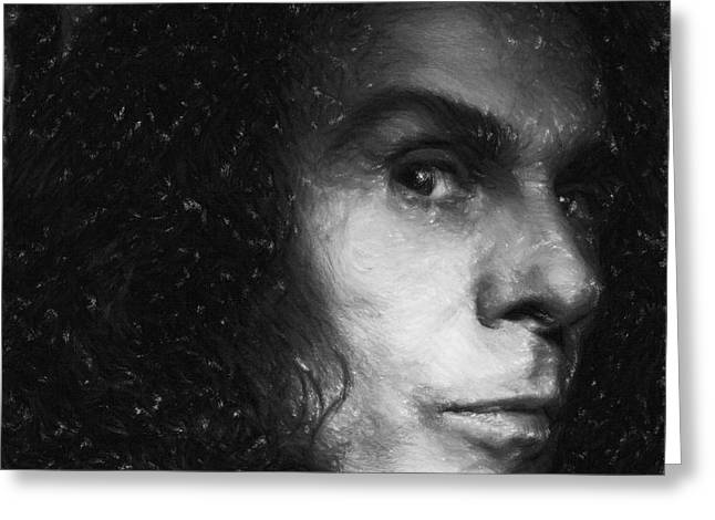 American Pastels Greeting Cards - Ronnie James Dio Greeting Card by Antony McAulay