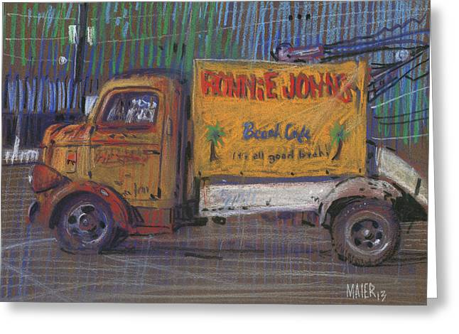 Signed Drawings Greeting Cards - Ronnie Johns Wrecker Sign Greeting Card by Donald Maier