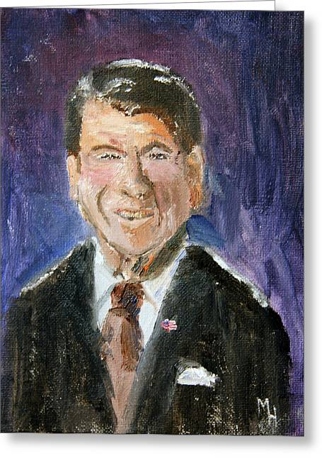 Gipper Greeting Cards - Ronnie Greeting Card by Michael Helfen
