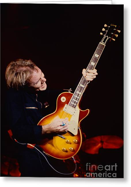 80s Greeting Cards - Ronnie Montrose - Gamma at the Cow Palace New Years Eve Greeting Card by Daniel Larsen