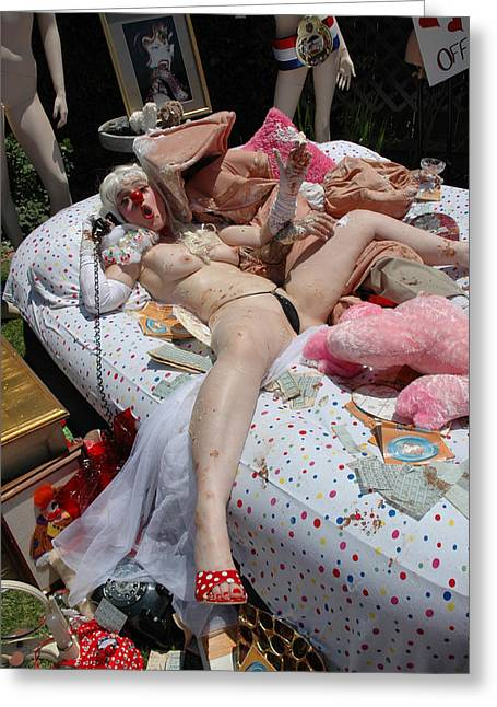 Sexy Pig Greeting Cards - Roobie Breastnut in The Wedding 181 Greeting Card by Liezel Rubin