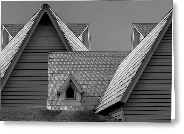 Roof Lines Greeting Card by Debra and Dave Vanderlaan