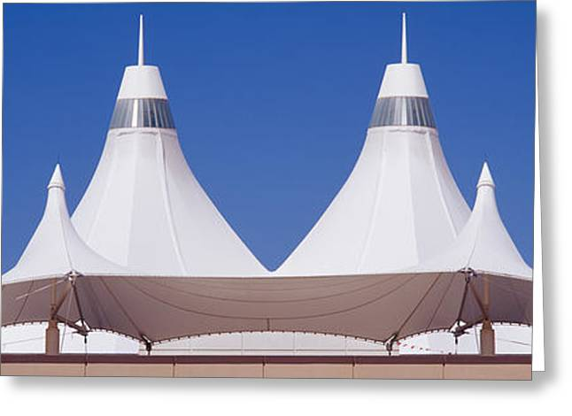 International Airports Greeting Cards - Roof Of A Terminal Building At An Greeting Card by Panoramic Images