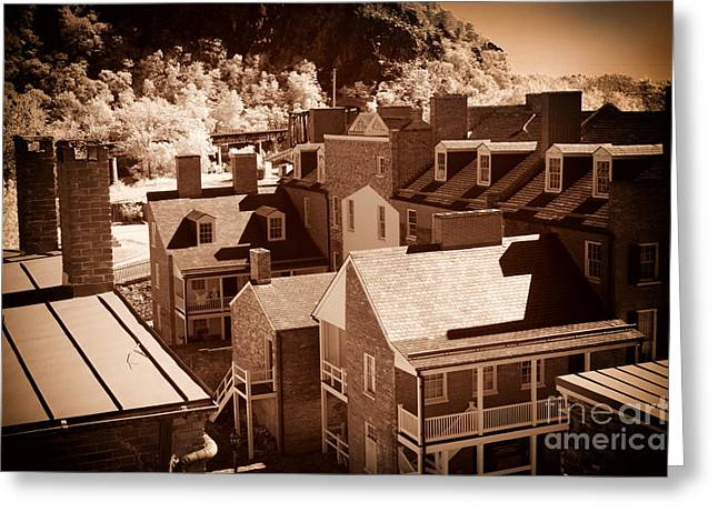Harpers Ferry Greeting Cards - Roof Tops Greeting Card by Paul W Faust -  Impressions of Light