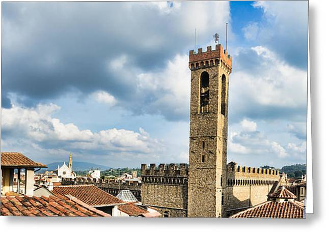 Chianti Greeting Cards - Roofs in Florence Italy Greeting Card by Frank Bach