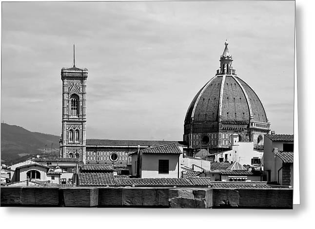 Florence Greeting Cards - Roofs of Florence Greeting Card by Mountain Dreams