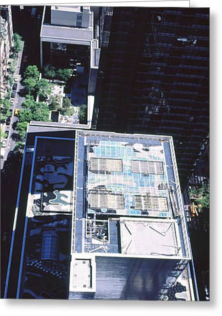 Modern Art Greeting Cards - Rooftop Of Museum Of Modern Art Greeting Card by Panoramic Images