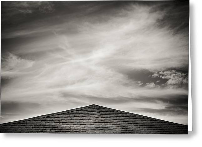 Rooftops Greeting Cards - Rooftop Sky Greeting Card by Darryl Dalton