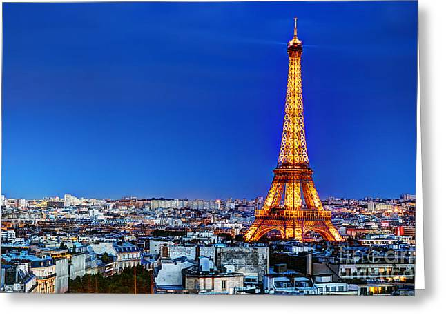 Invalides Greeting Cards - Rooftop view on the Eiffel Tower Greeting Card by Michal Bednarek