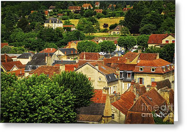 Shingles Greeting Cards - Rooftops in Sarlat Greeting Card by Elena Elisseeva