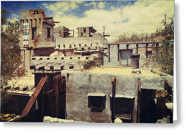 Pueblo Architecture Greeting Cards - Rooftops Greeting Card by Laurie Search