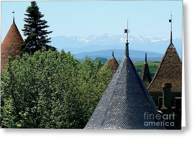 Wine Country Greeting Cards - Rooftops of Carcassonne Greeting Card by France  Art