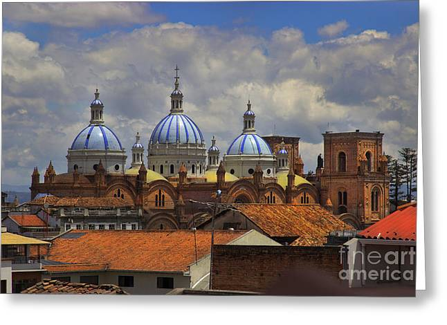 Al Central Greeting Cards - Rooftops Of Cuenca II Greeting Card by Al Bourassa